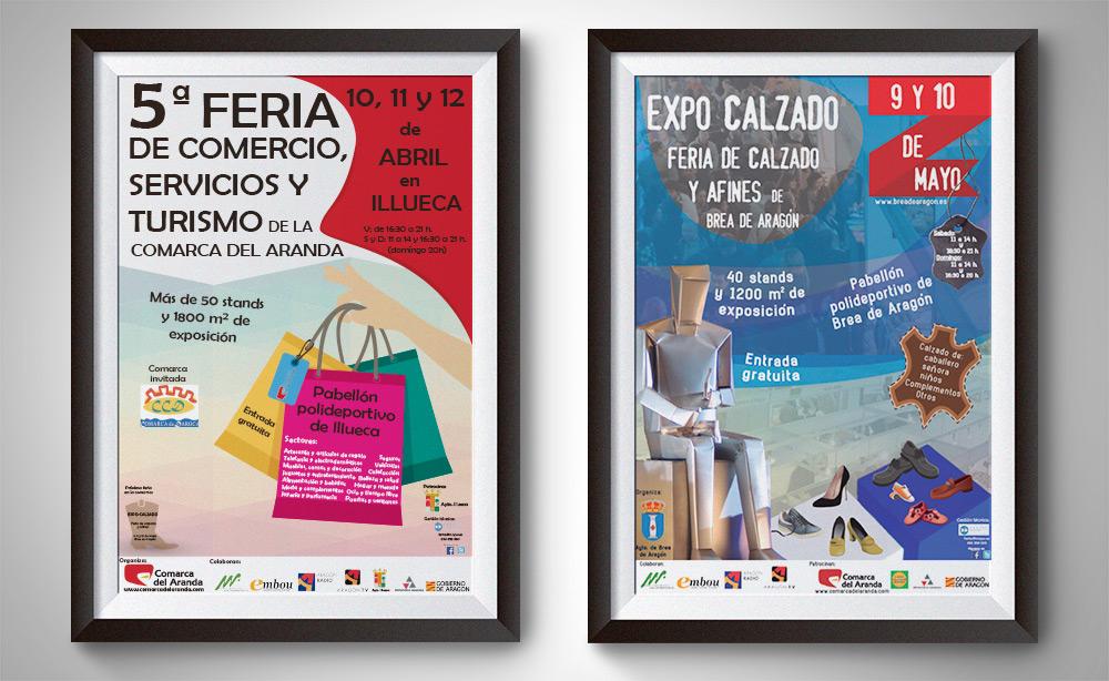 Diseño de carteles para ferias de Aragón