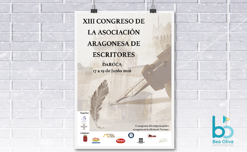 cartel congreso asociacion aragonesa de escritores