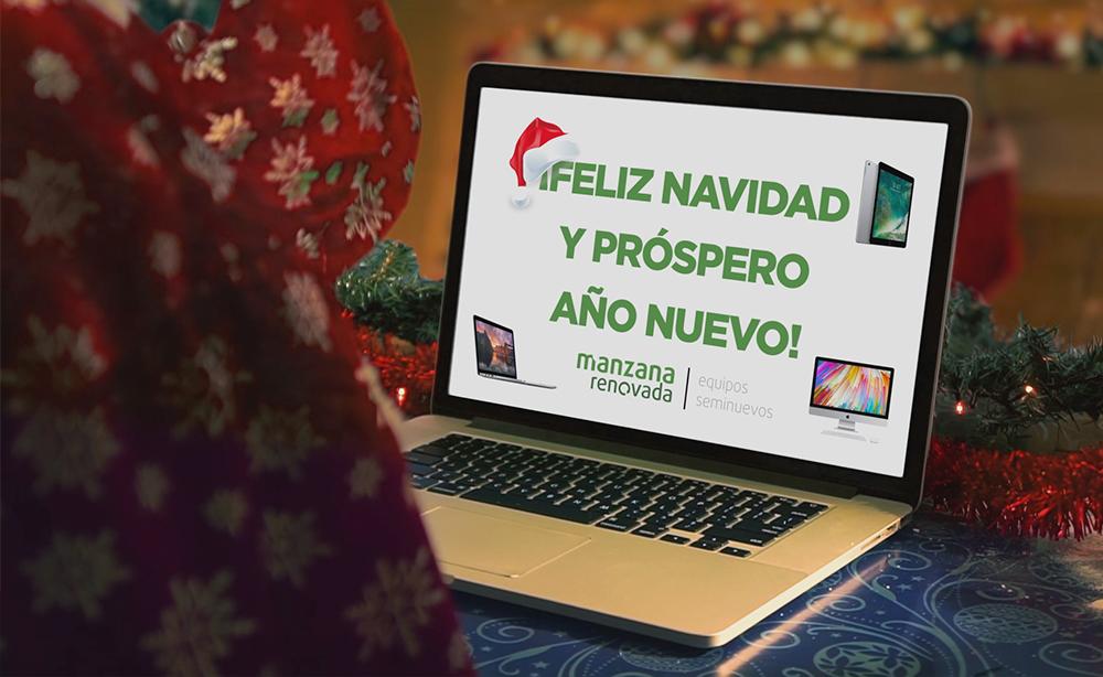 Felicitacion navideña Manzana Renovada